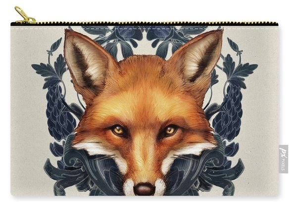 Fox Embellished Carry-all Pouch