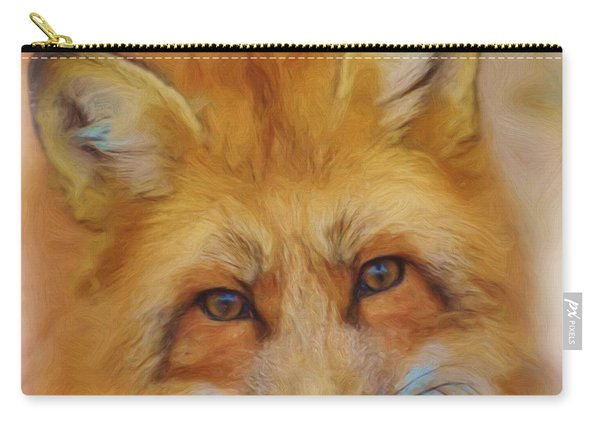 Fox Face Taken From Watercolour Painting Carry-all Pouch