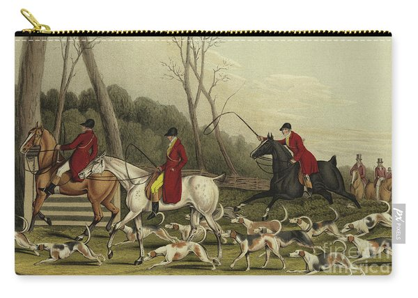 Fox Hunting Going Into Cover Carry-all Pouch