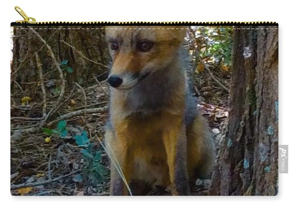 Carry-all Pouch featuring the photograph Fox Joy  by Colette V Hera Guggenheim
