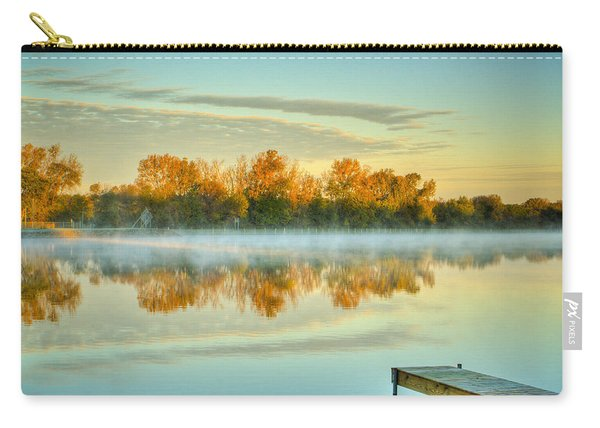 Fox River Above Mchenry Dam At Sunrise Carry-all Pouch