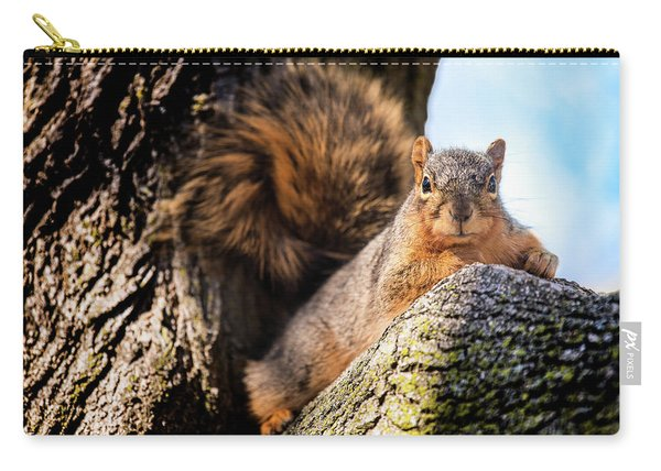 Fox Squirrel Watching Me Carry-all Pouch