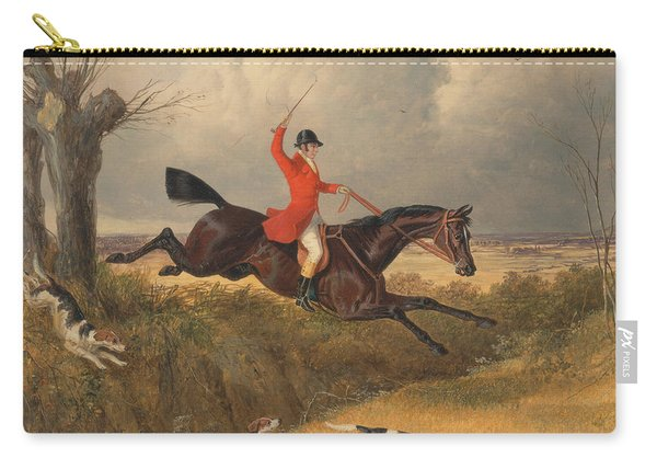 Foxhunting Clearing A Ditch Carry-all Pouch