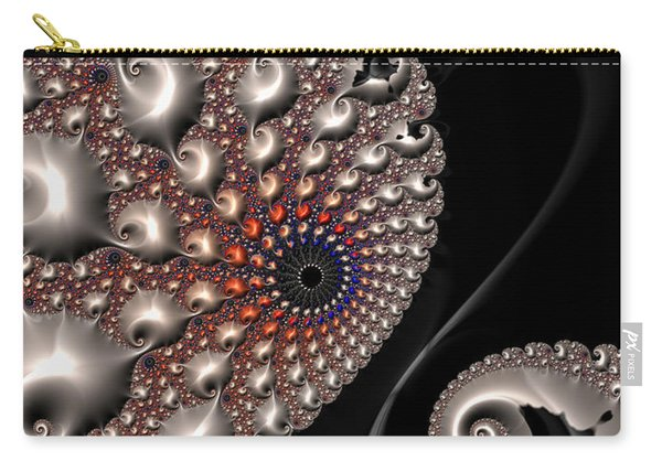Fractal Contact - Silver Copper Black Carry-all Pouch