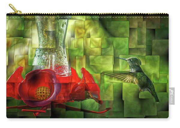 Fractured Hummingbird Carry-all Pouch