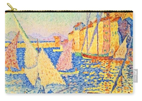 France, Sailing Boats, French Riviera, Painting Poster Carry-all Pouch