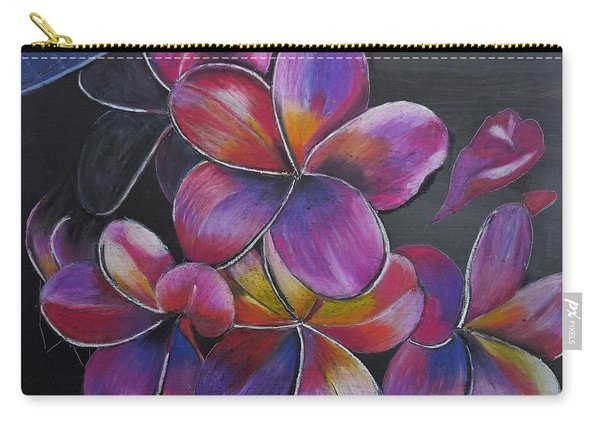Carry-all Pouch featuring the pastel Frangipani  by Richard Le Page