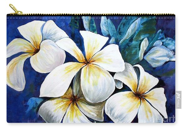 Carry-all Pouch featuring the painting Frangipani by Ryn Shell