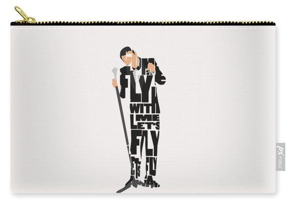 Frank Sinatra Typography Art Carry-all Pouch