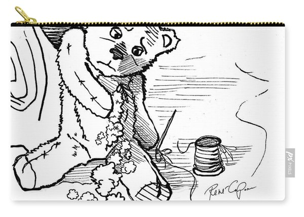 Frank The Bear All Stitched Up Carry-all Pouch