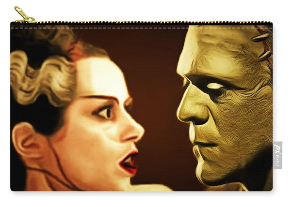 Frankenstein And The Bride I Have Love In Me The Likes Of Which You Can Scarcely Imagine 20170407 Sq Carry-all Pouch