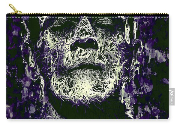 Carry-all Pouch featuring the mixed media Frankenstein by Al Matra