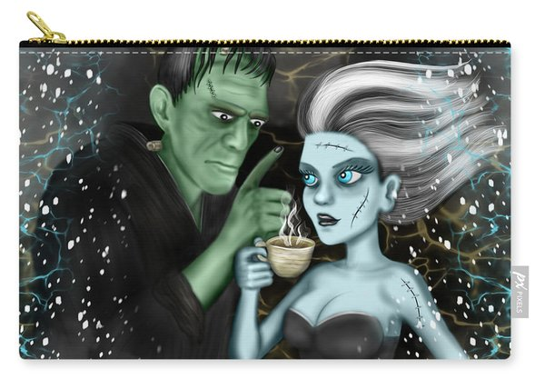 Carry-all Pouch featuring the painting Frankenstien Fantasy Art by Raphael Lopez