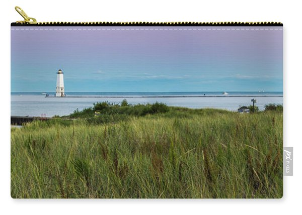 Frankfort North Breakwater Panorama From Elberta  Carry-all Pouch