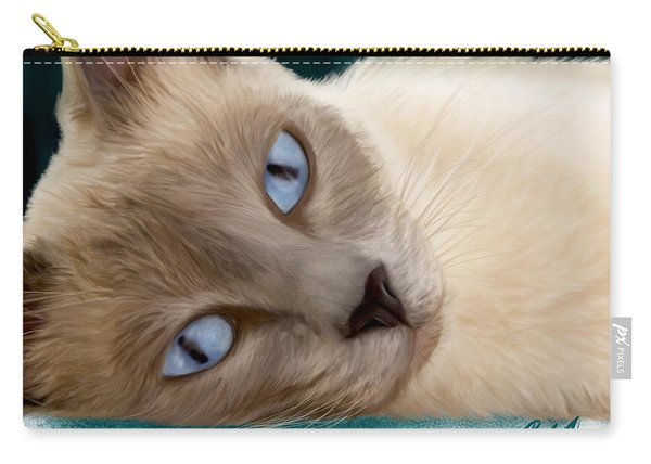 Frankie Blue Eyes Carry-all Pouch