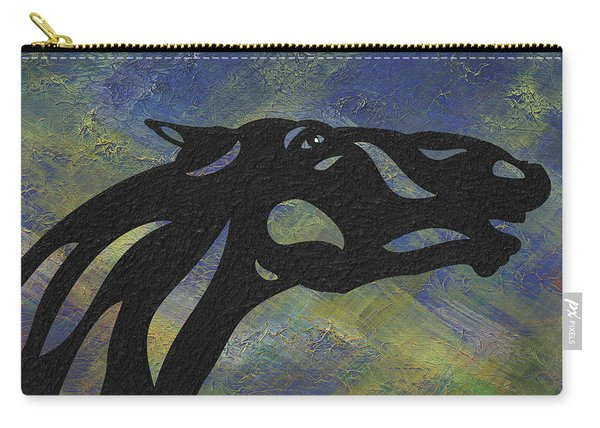 Fred - Abstract Horse Carry-all Pouch