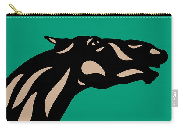 Fred - Pop Art Horse - Black, Hazelnut, Emerald Carry-all Pouch