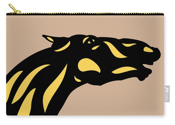 Fred - Pop Art Horse - Black, Primrose Yellow, Hazelnut Carry-all Pouch