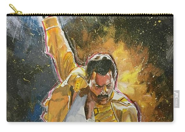 Carry-all Pouch featuring the painting Freddie by Joel Tesch