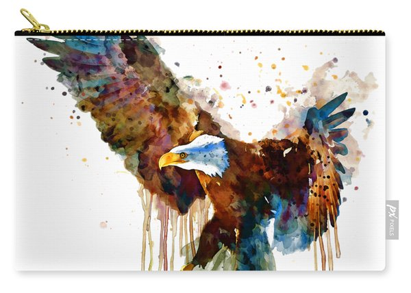 Free And Deadly Eagle Carry-all Pouch