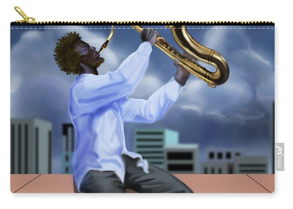 Free Jazz Moon Carry-all Pouch