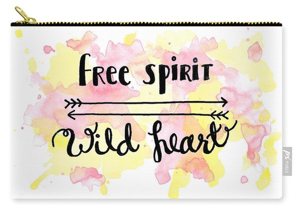 Free Spirit Wild Heart Watercolor Carry-all Pouch