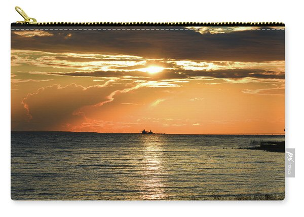 Freighter In The Sunset Carry-all Pouch