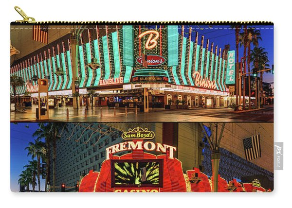 Fremont Street 4 Casinos Carry-all Pouch