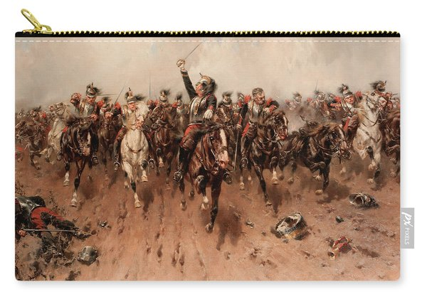 French Cavalry Charging Carry-all Pouch