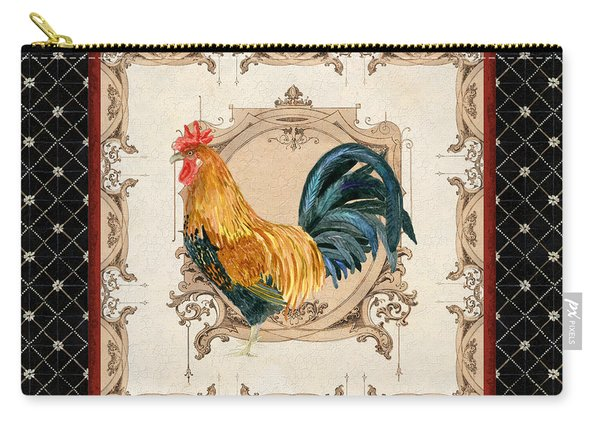 French Country Roosters Quartet 4 Carry-all Pouch