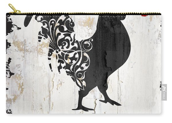 French Farm Sign Rooster Carry-all Pouch