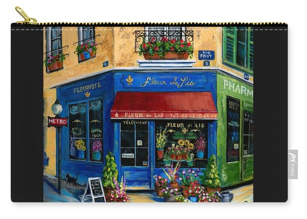 French Flower Shop Carry-all Pouch