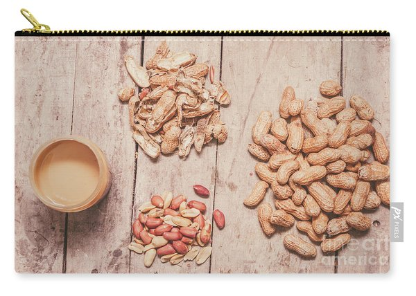 Fresh Peanuts, Shells, Raw Nuts And Peanut Butter Carry-all Pouch