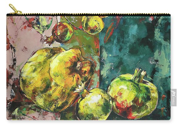Fresh Quince And Pomegranate Carry-all Pouch