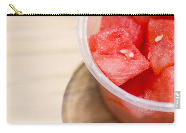 Fresh Slices Of Red Watermelon Close-up Carry-all Pouch