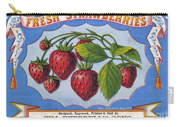 Fresh Strawberries Fruit Label Carry-all Pouch