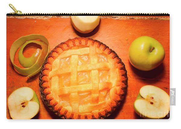 Freshly Baked Pie Surrounded By Apples On Table Carry-all Pouch