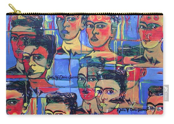 Frida Blue And Orange Carry-all Pouch