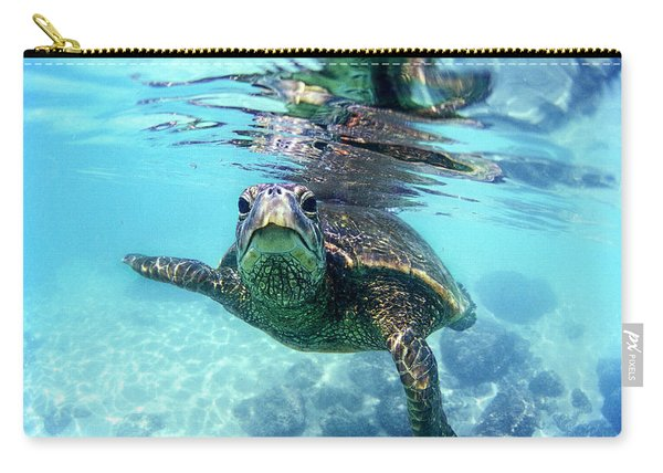 friendly Hawaiian sea turtle  Carry-all Pouch