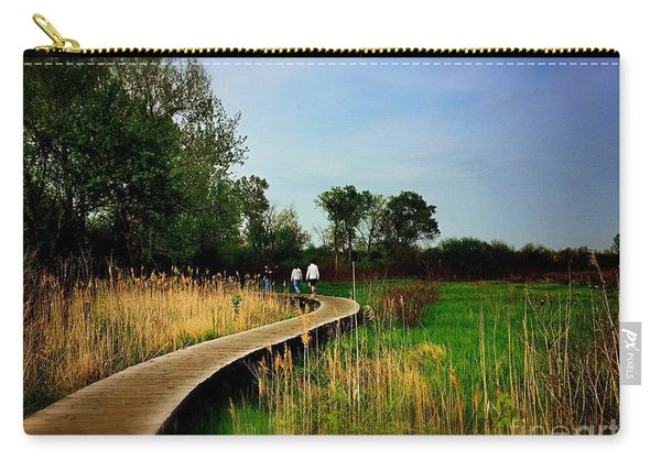 Friends Walking The Wetlands Trail Carry-all Pouch