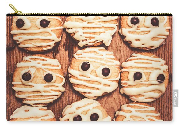 Frightened Mummy Baked Biscuits Carry-all Pouch