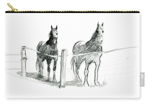 Friesian Horses Carry-all Pouch