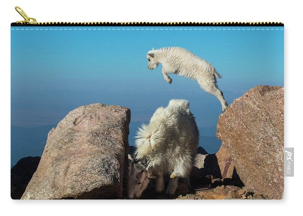 Leaping Baby Mountain Goat Carry-all Pouch