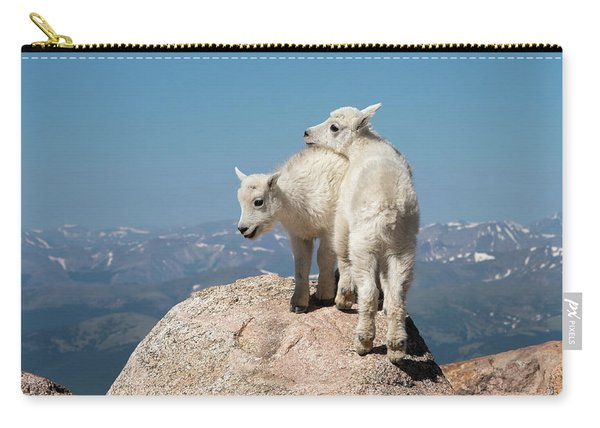 Frisky Mountain Goat Babies Carry-all Pouch
