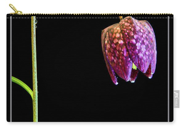 Fritillaria Meleagris, Snakes Head Fritillary Carry-all Pouch