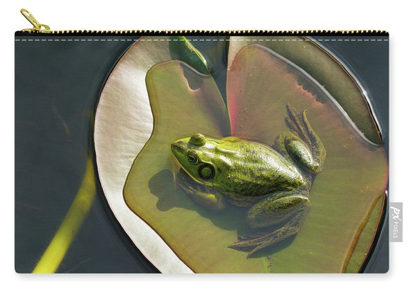 Frog Chilling On A Lilly Pad Delray Beach Florida Carry-all Pouch