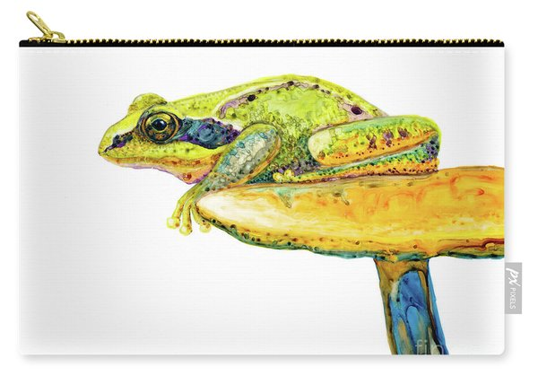 Frog Sitting On A Toad-stool Carry-all Pouch