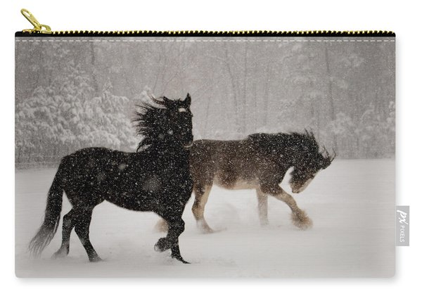 Frolic In The Snow Carry-all Pouch