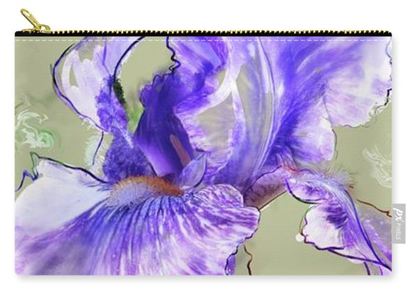 Carry-all Pouch featuring the digital art From Charlotte's Garden by Gina Harrison