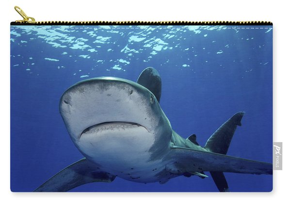 Front View Of An Oceanic Whitetip Carry-all Pouch